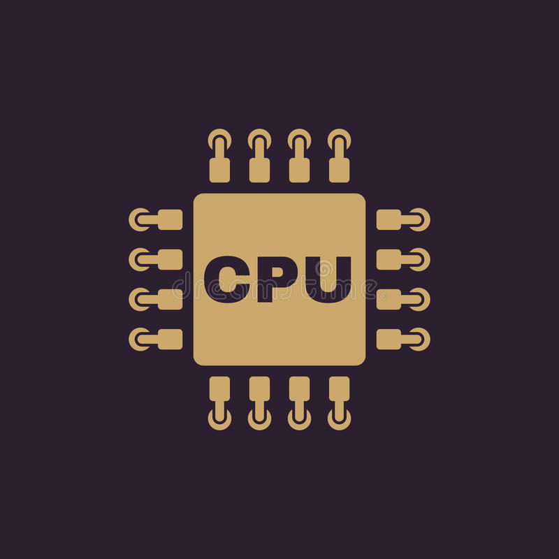 The cpu icon. Microprocessor and processor symbol. Flat. Vector illustration vector illustration