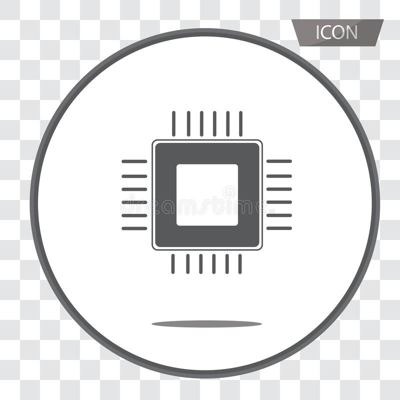 CPU icon vector, central processing unit icon vector isolated on stock illustration