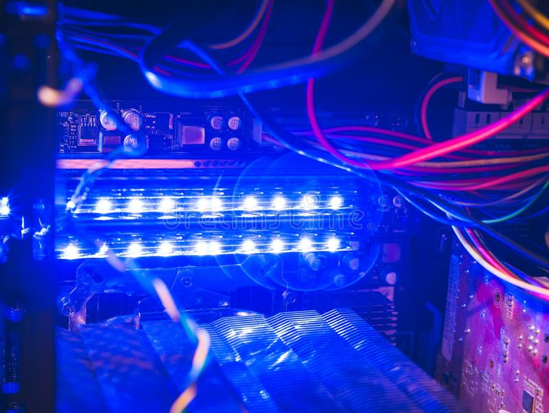 CPU with inscription blockchain. Block chain is a distributed database that maintains a continuously growing list of order stock image