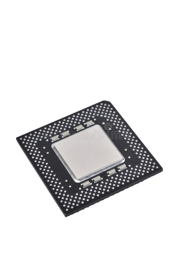 Cpu isolated on white stock photo