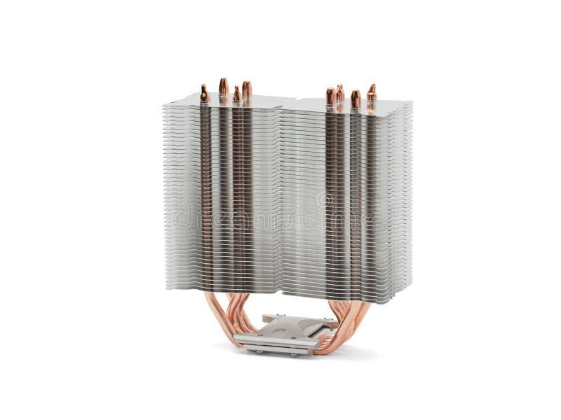 CPU-Kühlvorrichtung für einen Prozessor einer Turmart auf einem weißen Hintergrund lizenzfreie stockfotografie