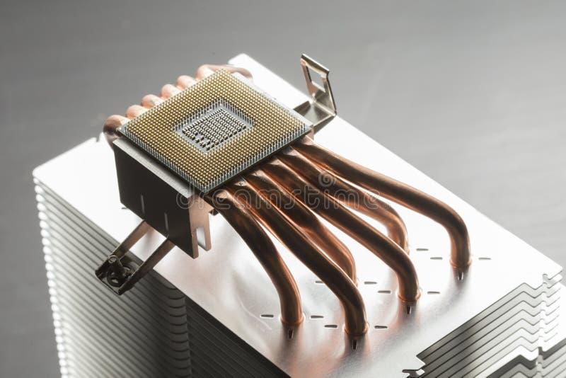 CPU-Kühlvorrichtungskühlkörper stockbild