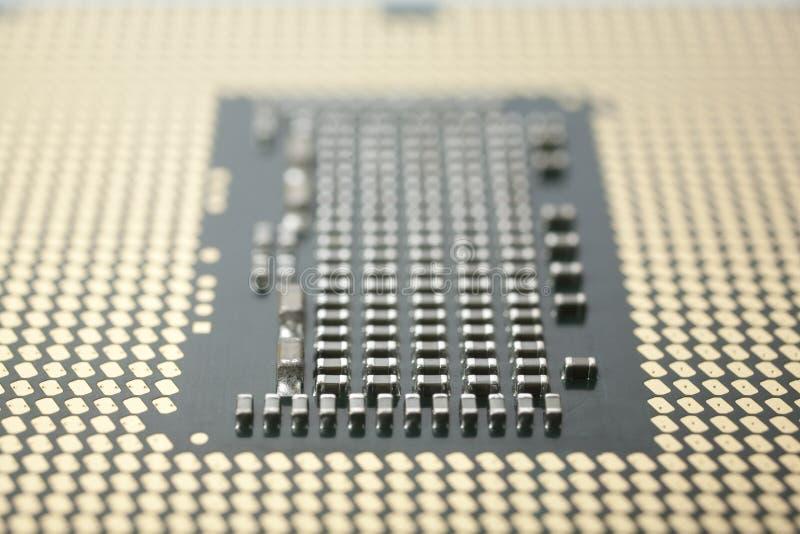 CPU Macro Stock Photo