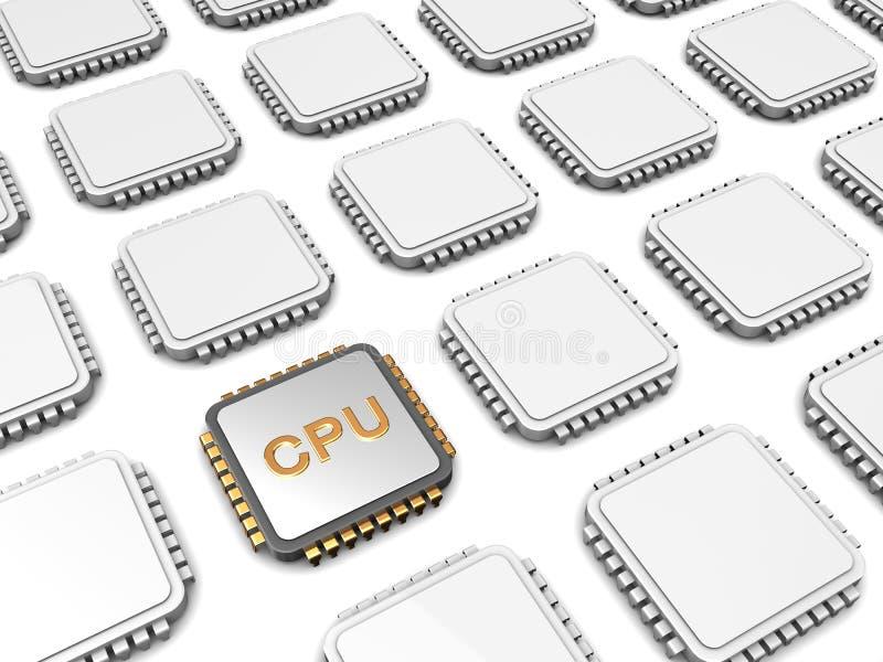 Cpu microchip royalty free illustration