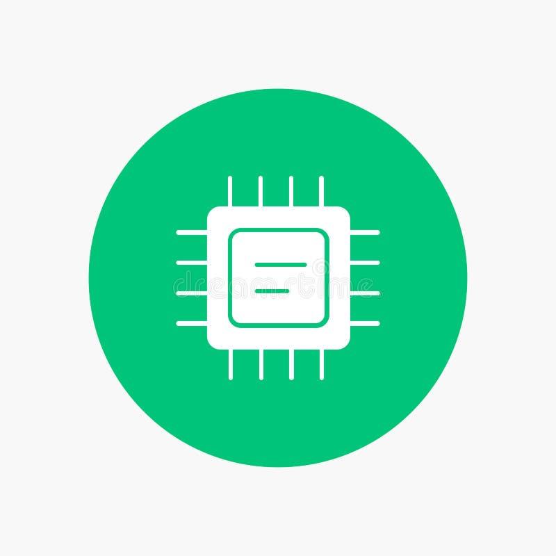 CPU, microchip, procesador ilustración del vector