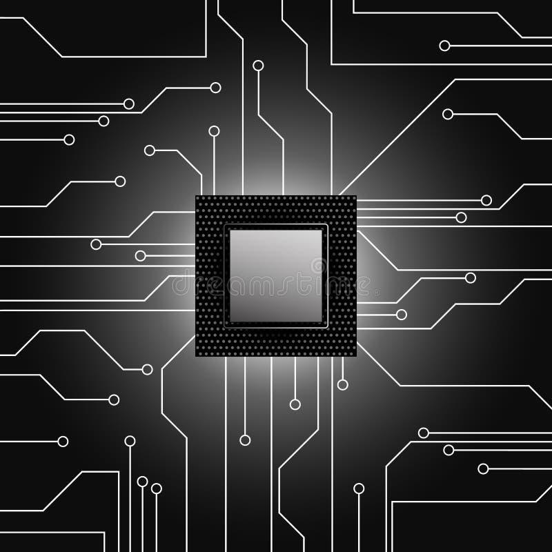 CPU Microprocesador microchip Tarjeta de circuitos libre illustration