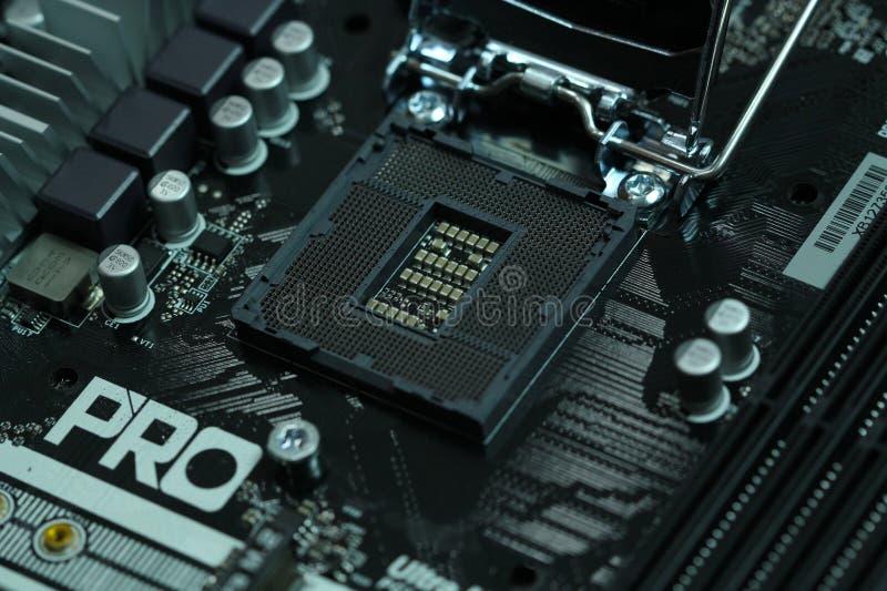 Cpu motherboard socket lga1151 stock photo