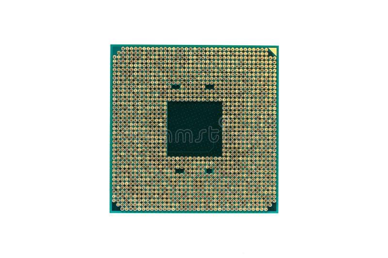 Cpu CPU, op witte achtergrond wordt geïsoleerd die royalty-vrije stock foto's