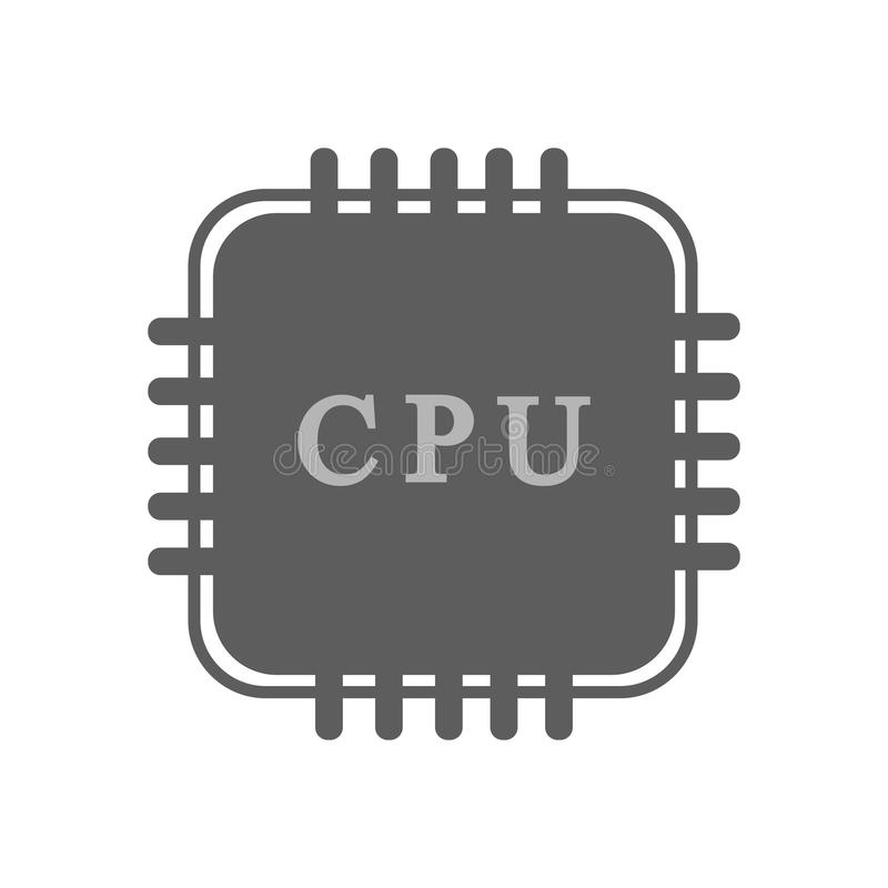 CPU Processor icon. On the white background. Vector illustration royalty free illustration