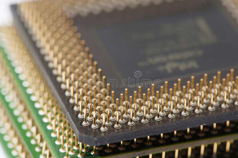CPU-processorer (bunt) royaltyfri bild
