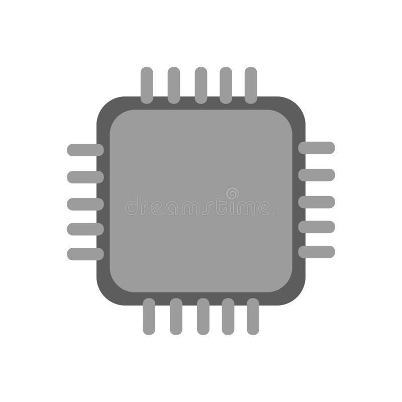 CPU-processorsymbol stock illustrationer