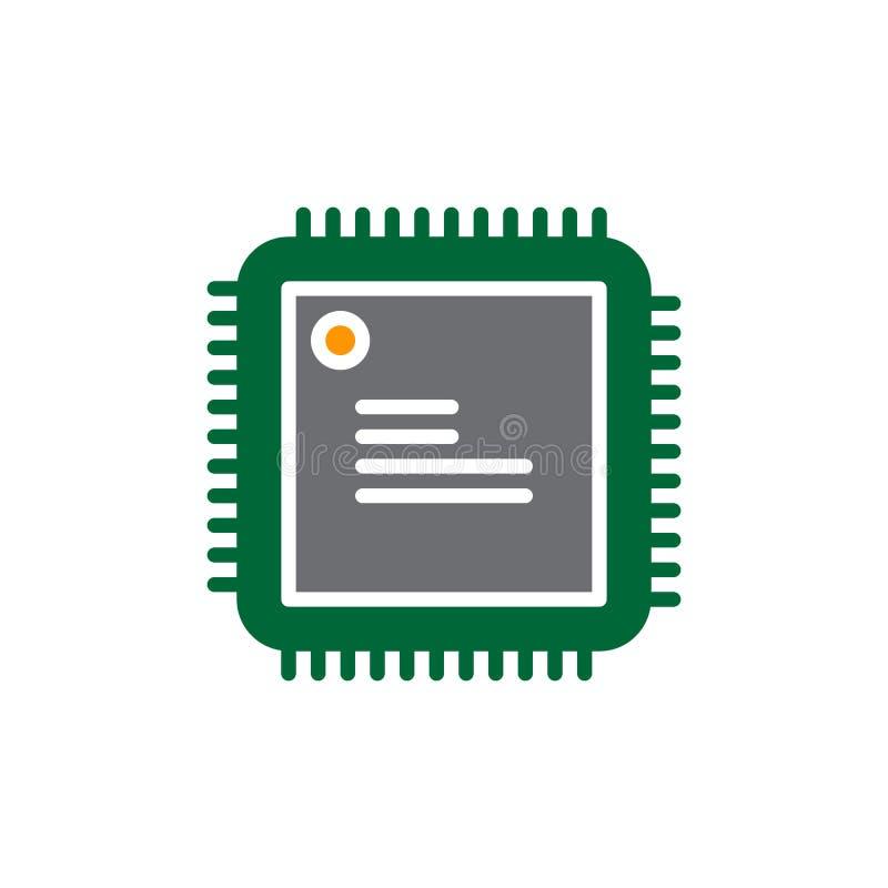 CPU, Prozessorvektorikone, Buntes Zeichen Vektor Abbildung ...