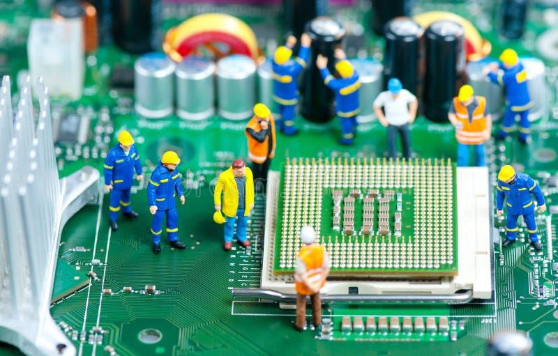 CPU-reparation arkivbild