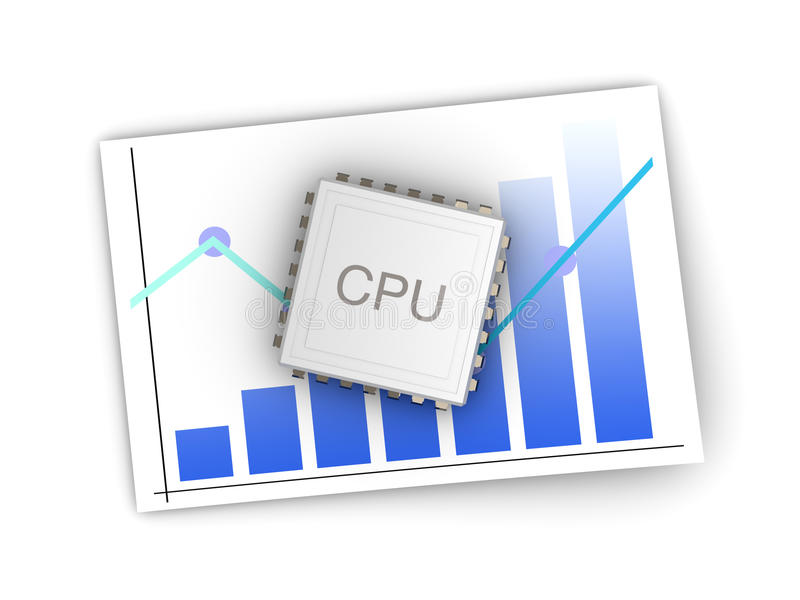 Download CPU Review stock illustration. Image of market, chart - 29146578