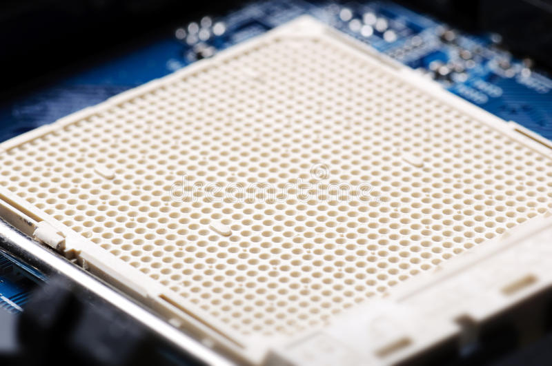 Download CPU Socket Closeup stock image. Image of microchip, manufacturing - 17022639