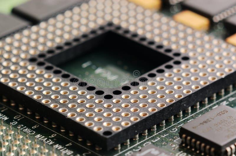 CPU-stickkontakt fotografering för bildbyråer