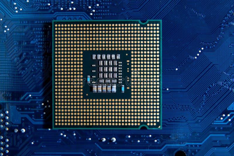 CPU sul circuito fotografia stock libera da diritti