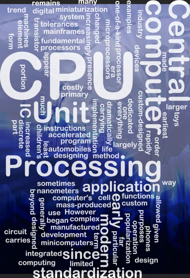 Download CPU word cloud stock illustration. Illustration of standardization - 20252098