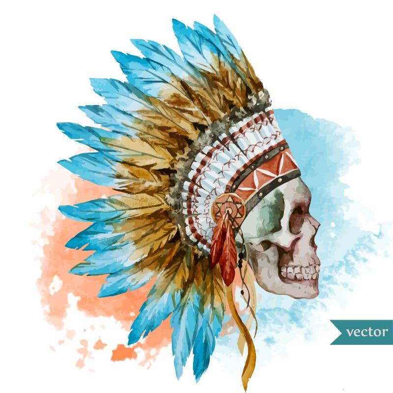 Cráneo étnico ilustración del vector
