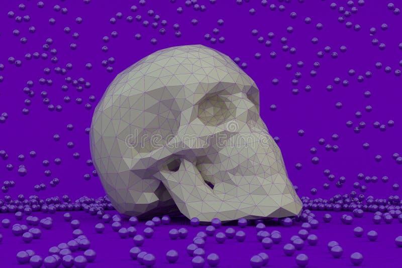 Cráneo abstracto 3d ilustración del vector