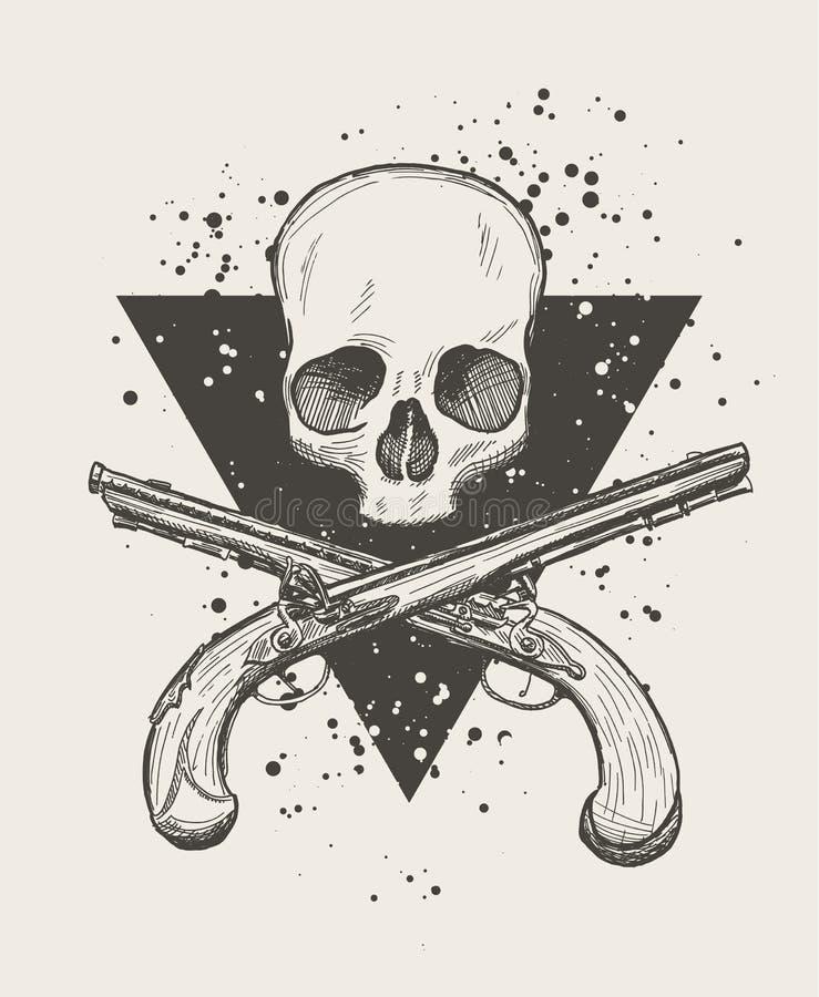 Cráneo alegre de Rogelio ilustración del vector
