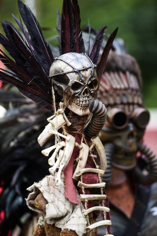 Cráneo apocalíptico del poste Cráneo apocalíptico del poste fotografía de archivo libre de regalías