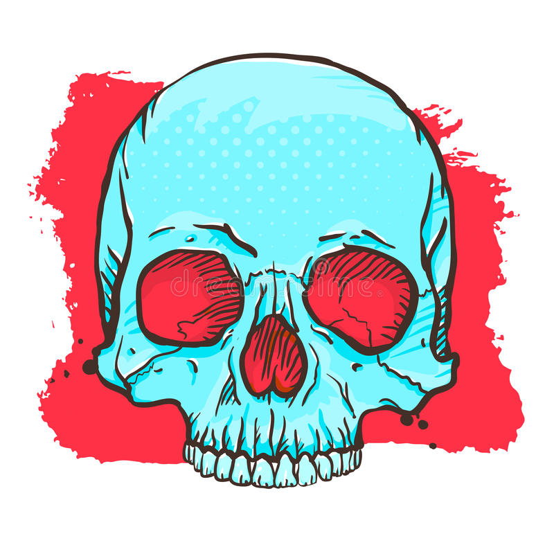 Cráneo azul libre illustration