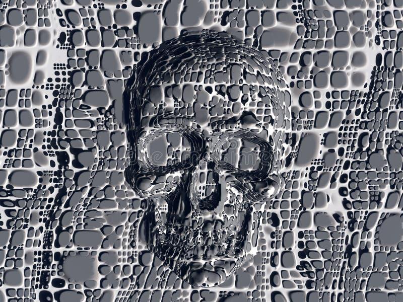 Cráneo bloqueado. stock de ilustración