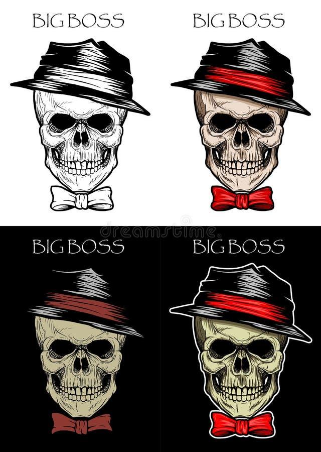 Cráneo Boss stock de ilustración