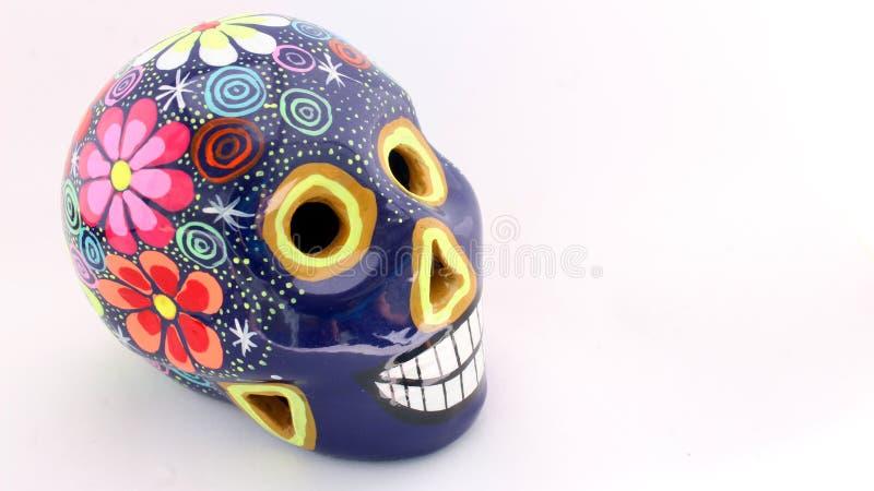 Cráneo colorido del día de los muertos fotografía de archivo