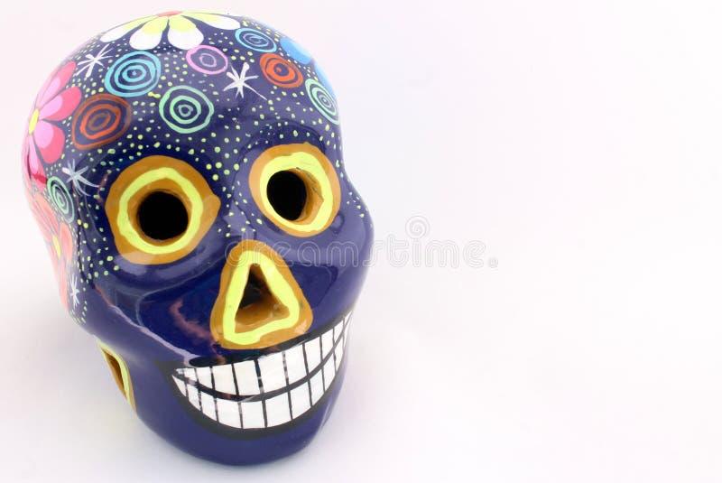 Cráneo colorido del día de los muertos fotos de archivo libres de regalías