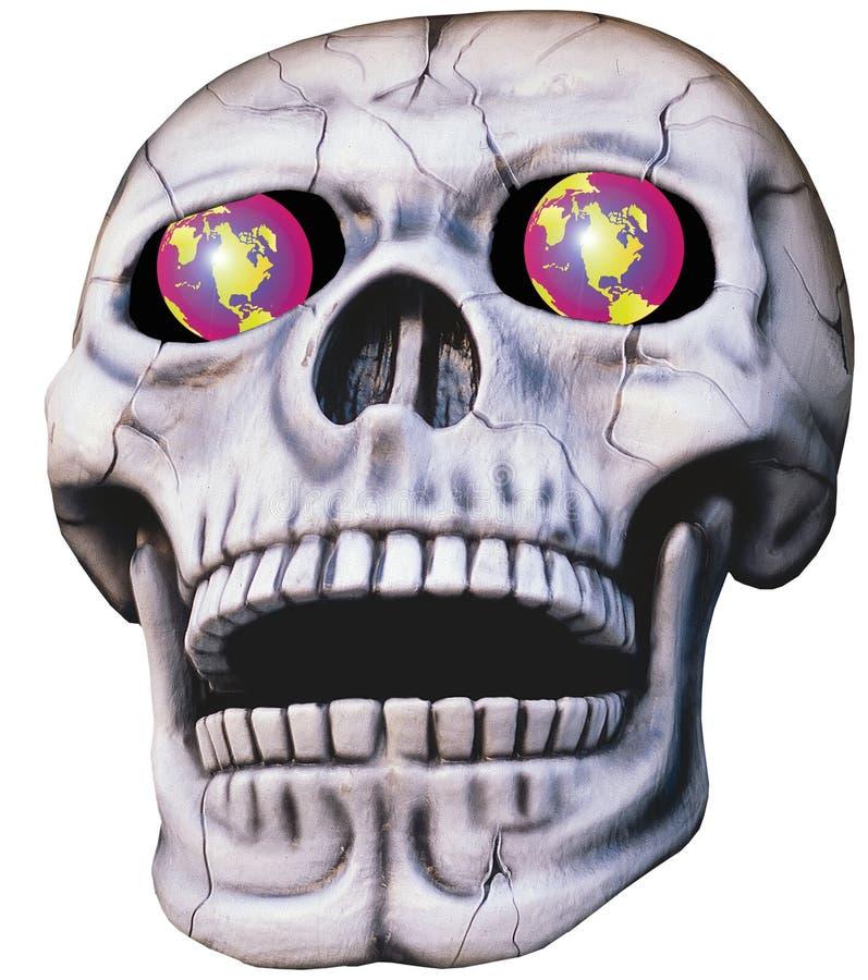 Cráneo con los ojos que brillan intensamente libre illustration