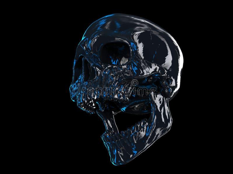 Cráneo de griterío de la muerte stock de ilustración