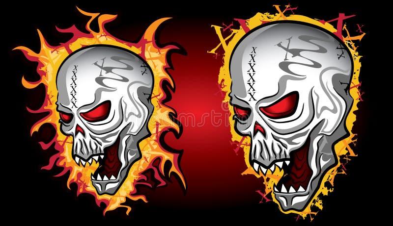 Download Cráneo De Grito De Halloween Del Horror En Llamas Stock de ilustración - Ilustración de peligroso, criatura: 41901086
