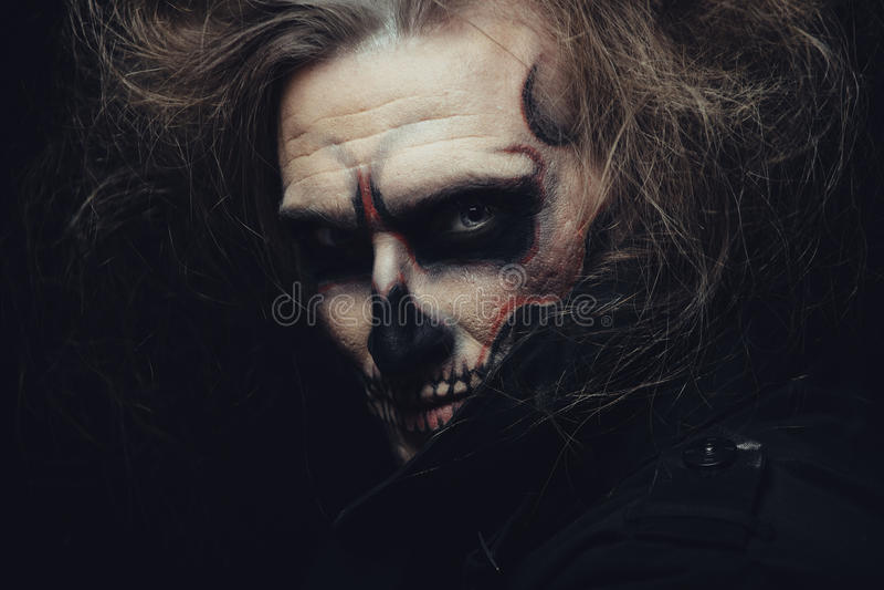 Cráneo de Halloween foto de archivo