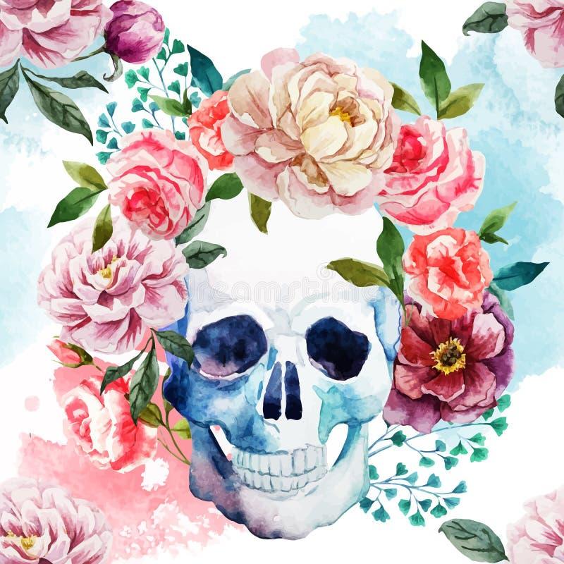 Cráneo de la acuarela libre illustration