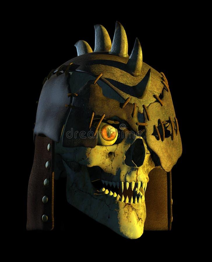 Cráneo De La Batalla Del Demonio Fotografía de archivo
