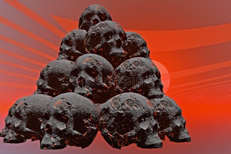 Cráneo de la condenación. stock de ilustración