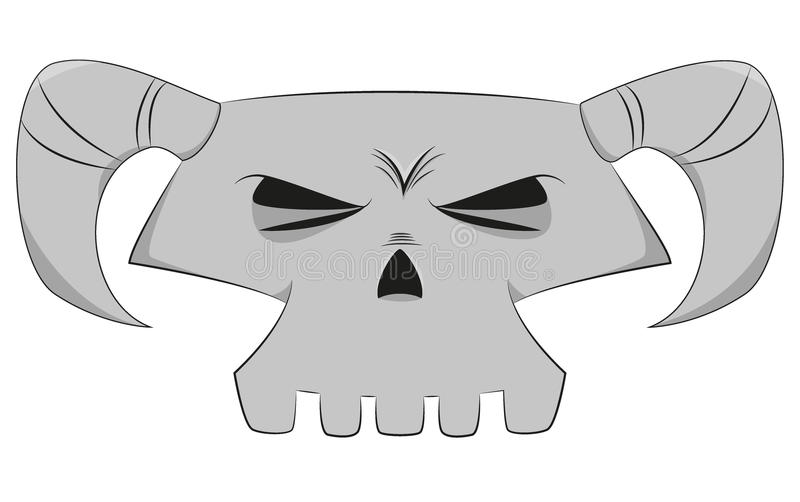 Cráneo de la historieta imagenes de archivo