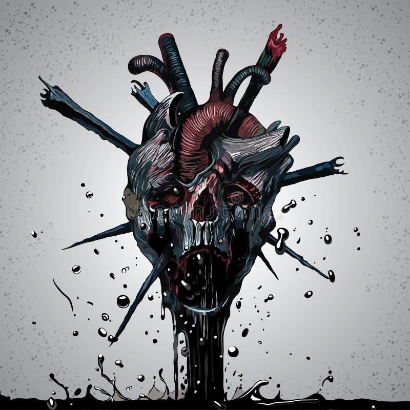 Cráneo de la muerte stock de ilustración
