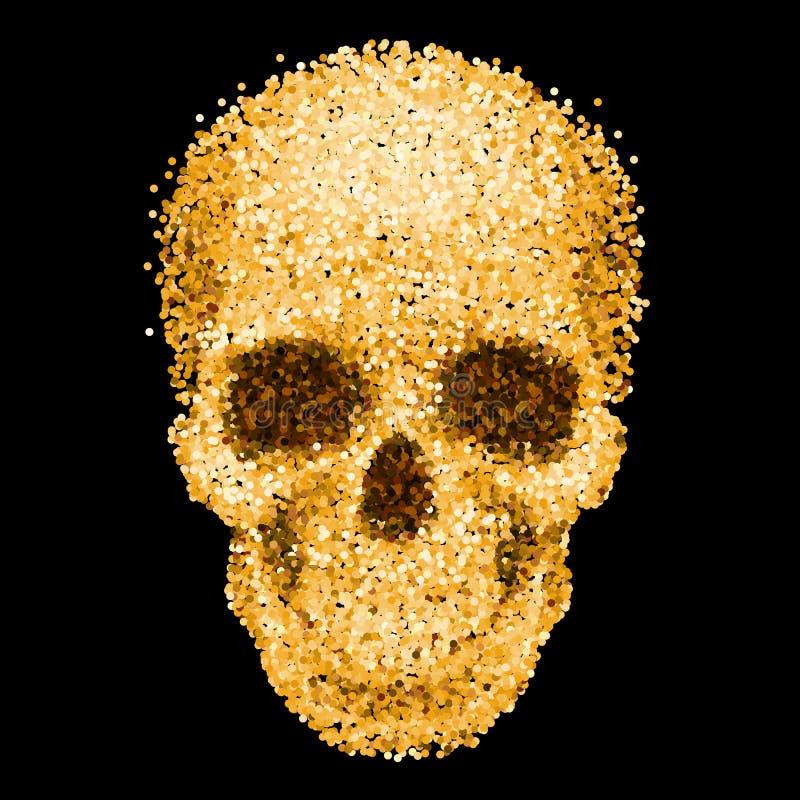 Cráneo de oro libre illustration