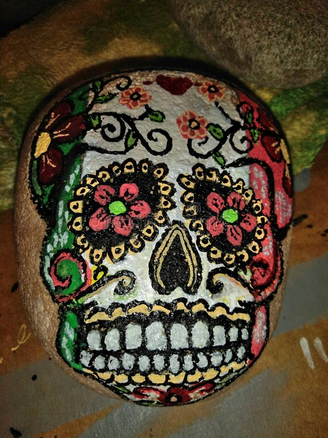 Cráneo del azúcar foto de archivo libre de regalías
