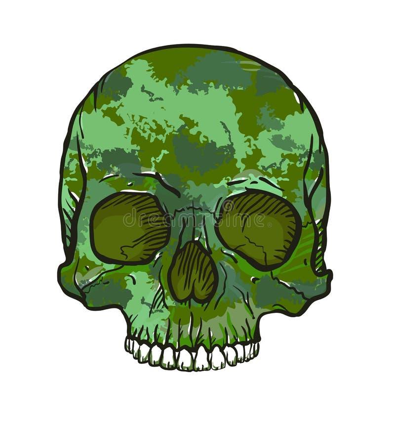 Cráneo del camuflaje ilustración del vector