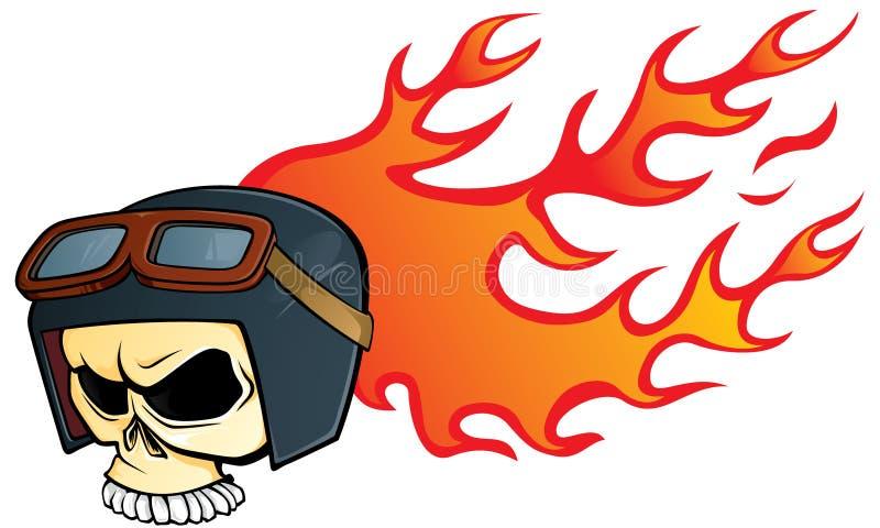Cráneo del casco stock de ilustración