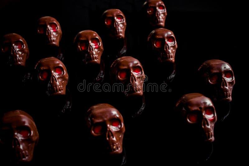 Cráneo del chocolate fotos de archivo libres de regalías