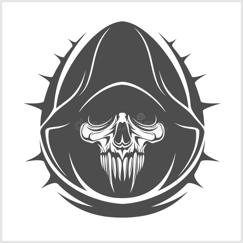 Cráneo del demonio del vector libre illustration