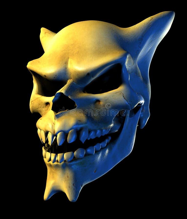 Cráneo del demonio - incluye el camino de recortes ilustración del vector