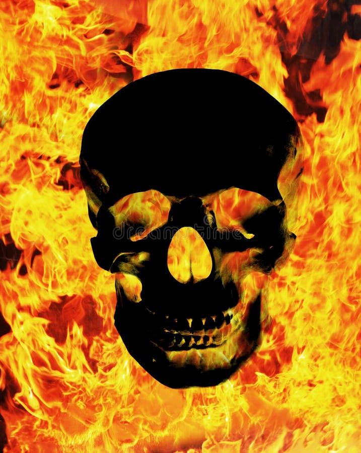 Cráneo del fuego fotografía de archivo