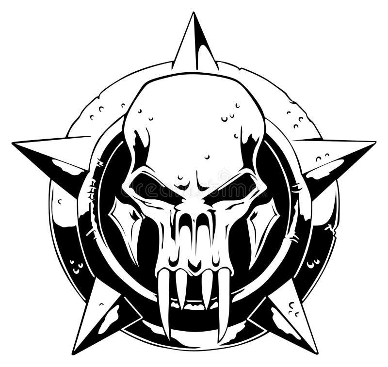 Cráneo del monstruo stock de ilustración