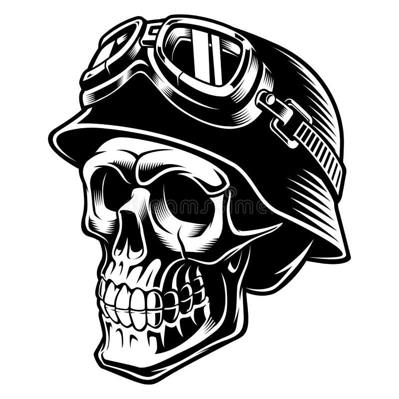 Cráneo del motorista stock de ilustración